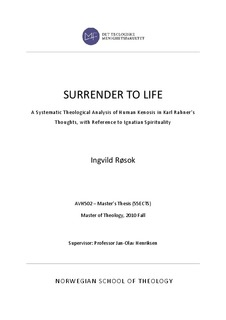 SURRENDER TO LIFE - A Systematic Theological Analysis of